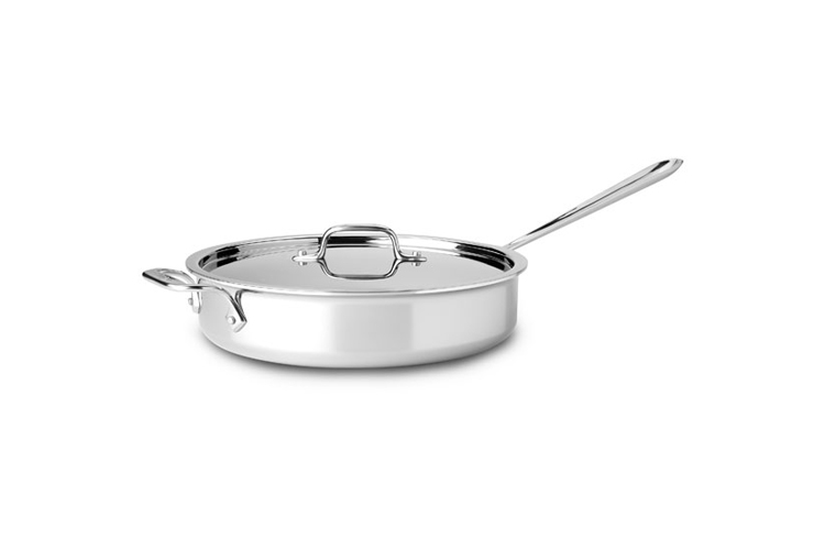 All Clad 5 Qt Saute Pan With Lid Peppercorn