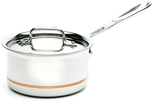 All Clad Stainless Steel Copper Core 4qt Sauce Pan