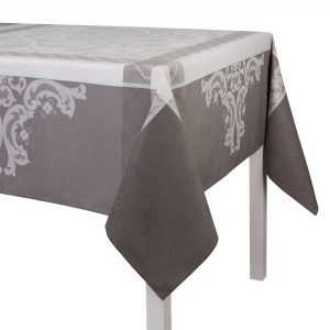 Le Jacquard Francais Coated tablecloth Azulejos Grey